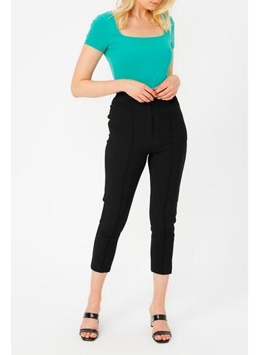 Random Önü Diklişli Klasik Pantolon Siyah